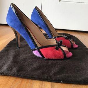 Kate Spade Suede Color Block Heels